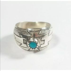 Jewelry - Great Pinky Ring 925 Turquoise Wide Band